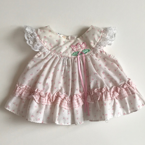 icz Other - Baby dress pink and cream floral 3-6 months